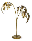 Antique Gold Palm Leaf Table Lamp - in stock now