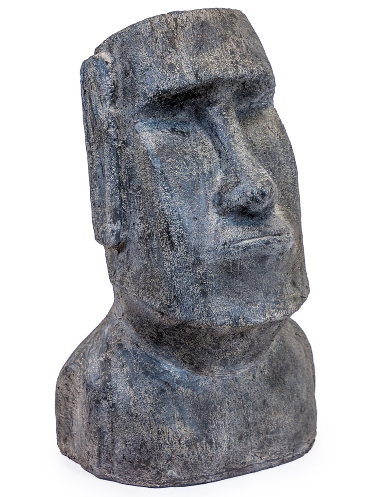 Large Stone Effect Easter Island Head