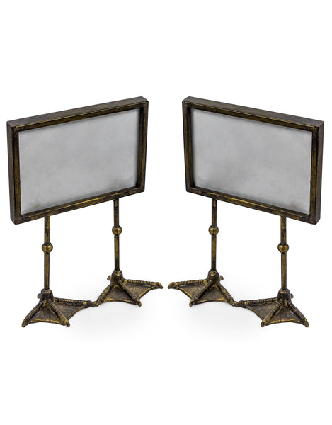 Antique Gold Duck Feet Photo Frame