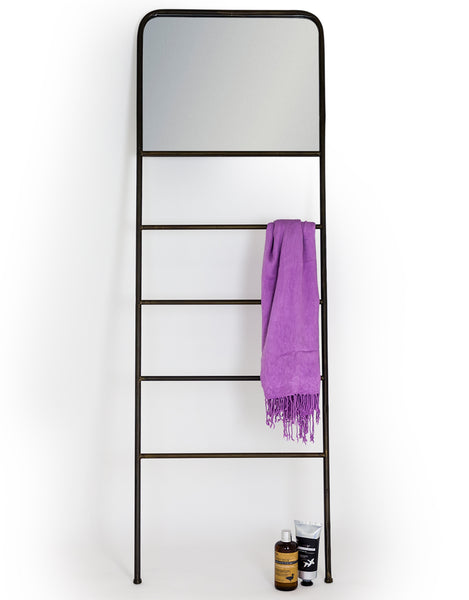 Industrial Leaning Mirror Ladder