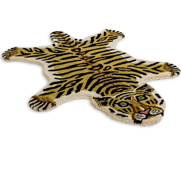 Hand Tufted Small Tiger Woollen Rug