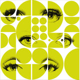 MTG Wallpaper Eyes and Circles Lime Green WP20085