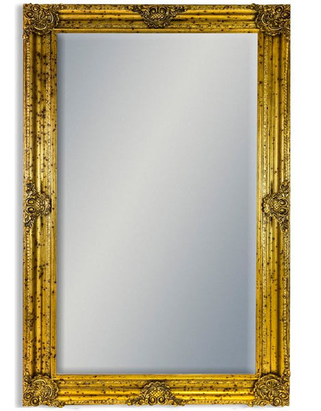 extra large wall floor leaner gold ornate mirror 24cm x 120cm