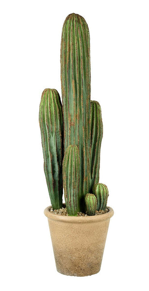 LARGE POTTED FAUX CEREUS CACTUS
