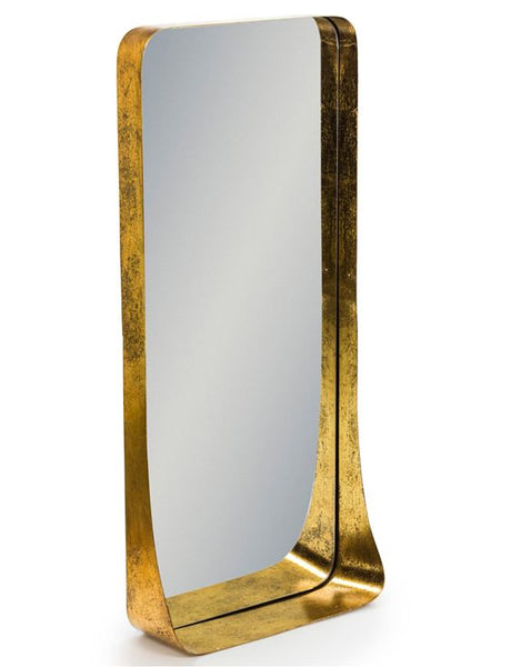 gold wall shelf mirror 90cm x 45cm x 14cm