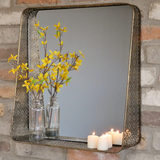 Gold Filagree Square Mirror