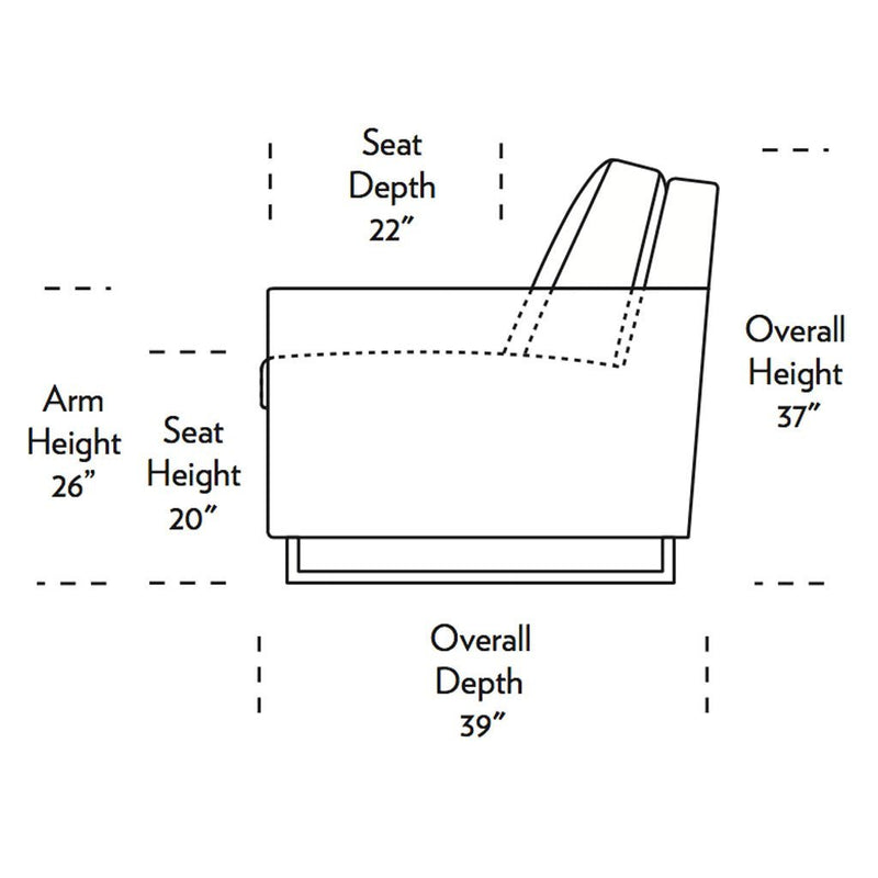 Brandt Comfort Sleeper Sofa Side Dimensions