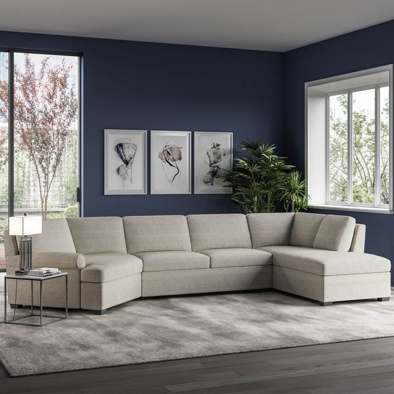 Gaines Sectional Comfort Sleeper Sofa by American Leather