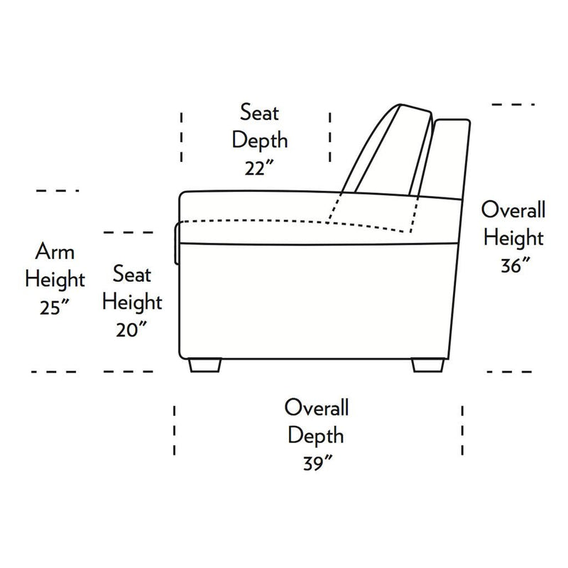 Gaines Comfort Sleeper Sofa Side Dimensions