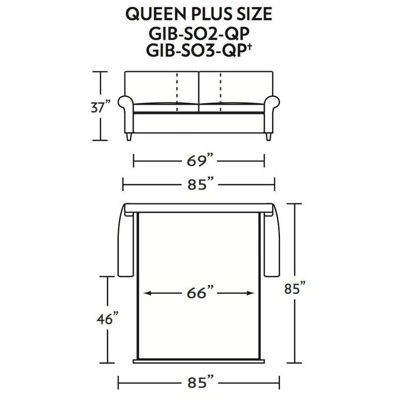 Gibbs Queen Plus Size Comfort Sleeper Sofa