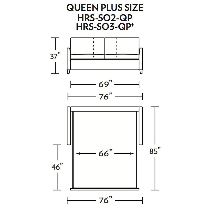 Harris Queen Plus Size Sleeper Sofa
