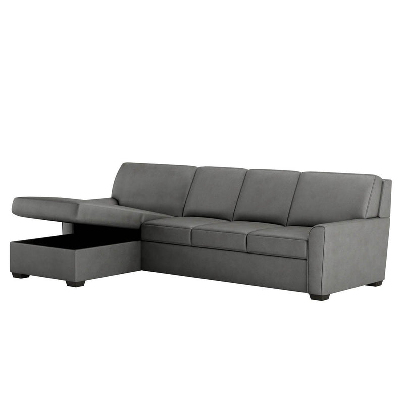 Klein Comfort Sleeper Sectional Sofa by American Leather Storage Ottoman