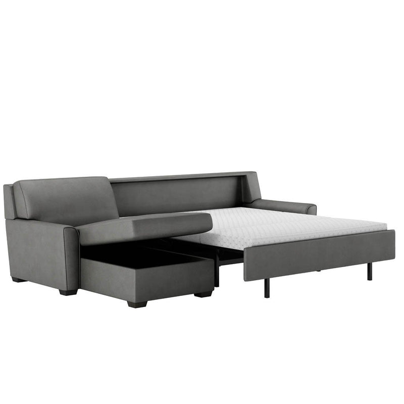 Klein Comfort Sleeper Sectional Sofa by American Leather Open
