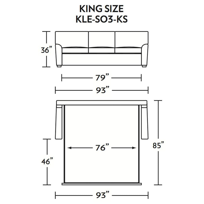 Klein King Size Sleeper Sofa