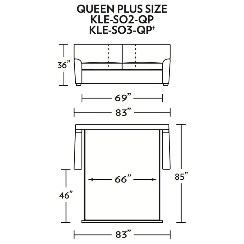Klein Queen Plus Size Sleeper Sofa