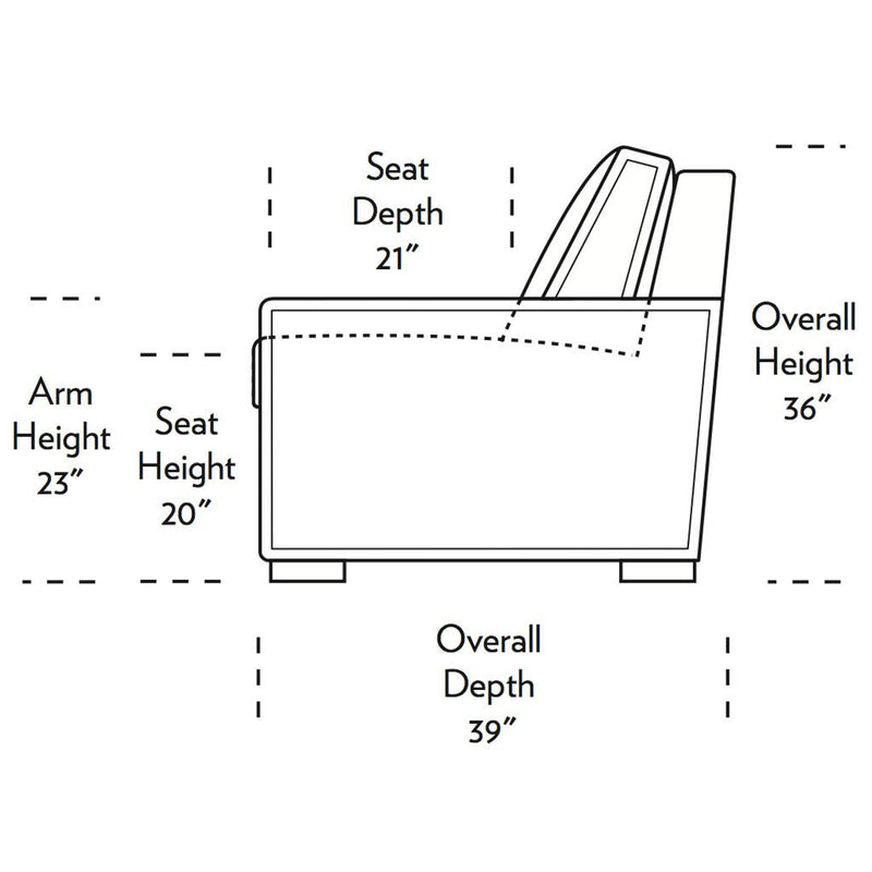 Madden Comfort Sleeper Sofa Side Dimensions