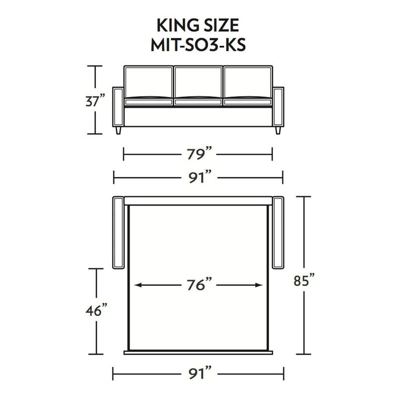 Mitchell King Size Sleeper Sofa