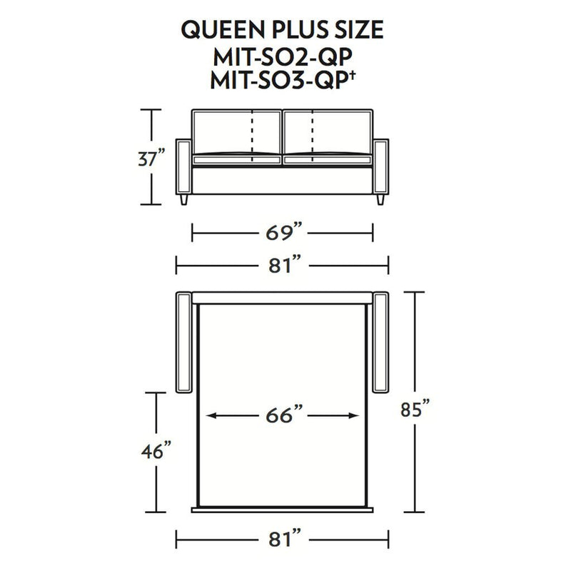 Mitchell Queen Plus Size Sleeper Sofa