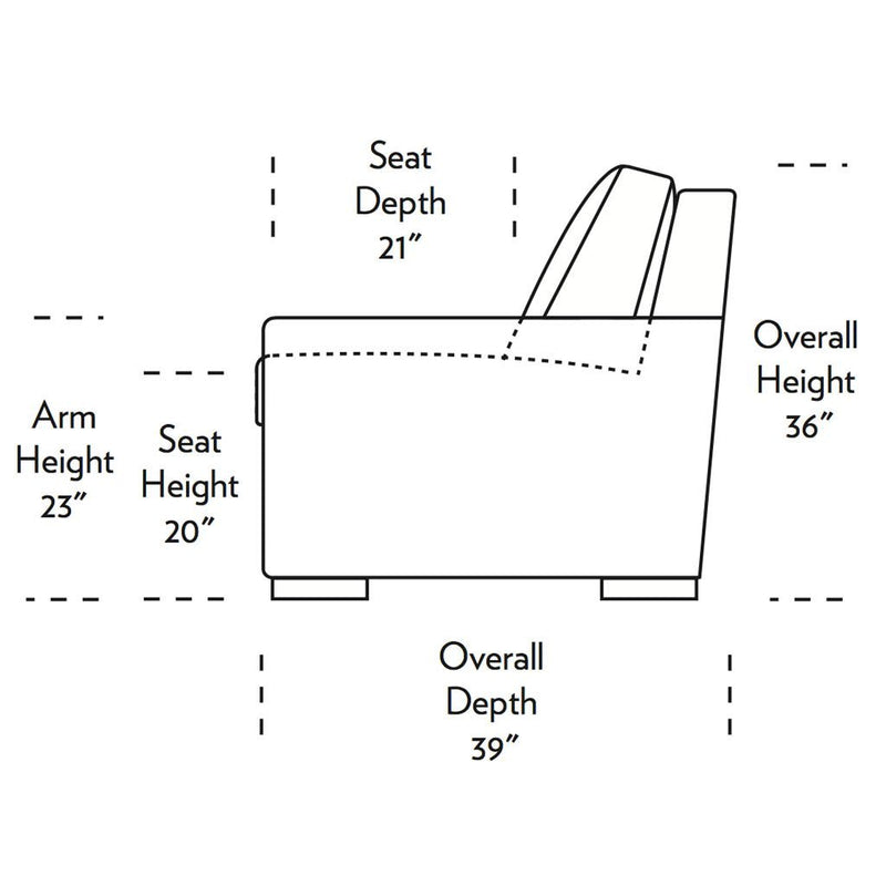 Olson Comfort Sleeper Sofa Side Dimensions