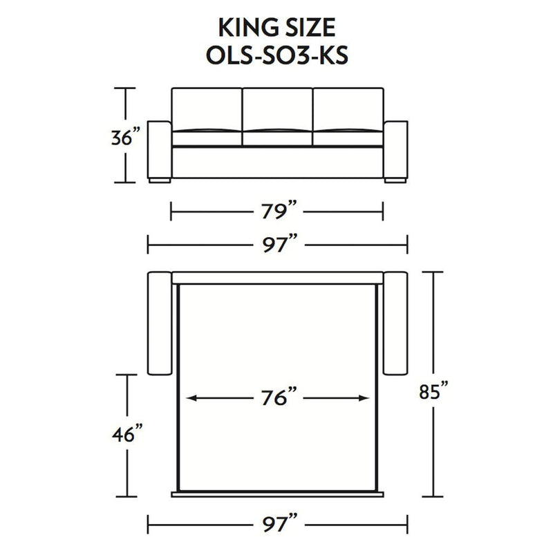 Olson King Size Sleeper Sofa