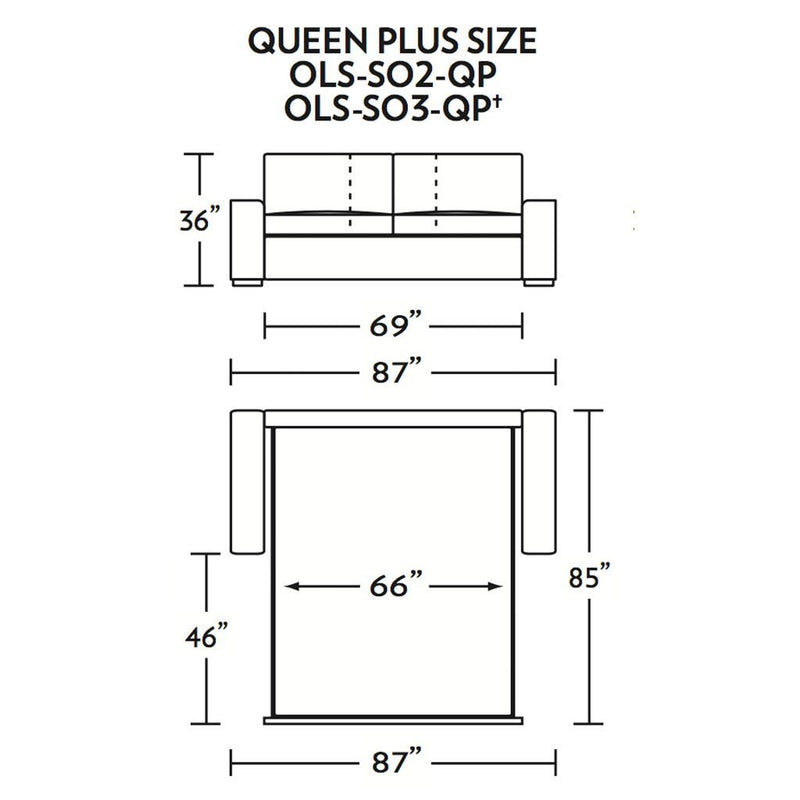 Olson Queen Plus Size Sleeper Sofa