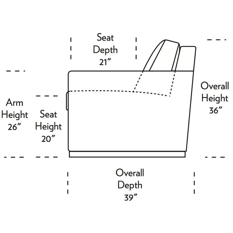 Pearson Comfort Sleeper Sofa Side Dimensions