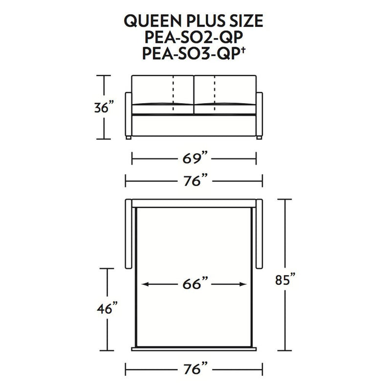 Pearson Queen Plus Size Comfort Sleeper Sofa