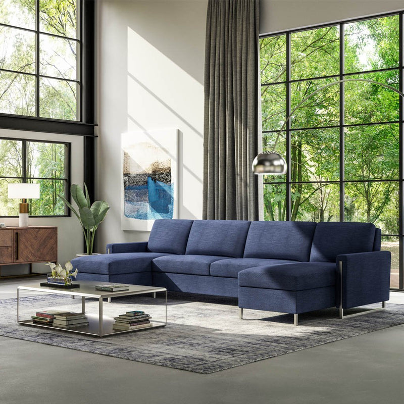 Sulley Comfort Sleeper Sectional Sofa by American Leather
