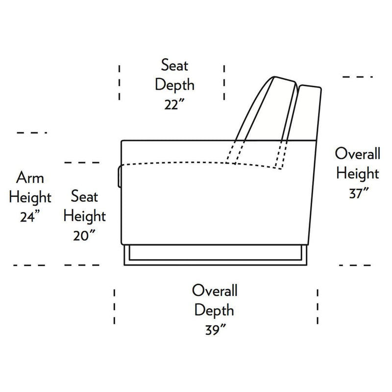 Sulley Comfort Sleeper Sofa Side Dimensions
