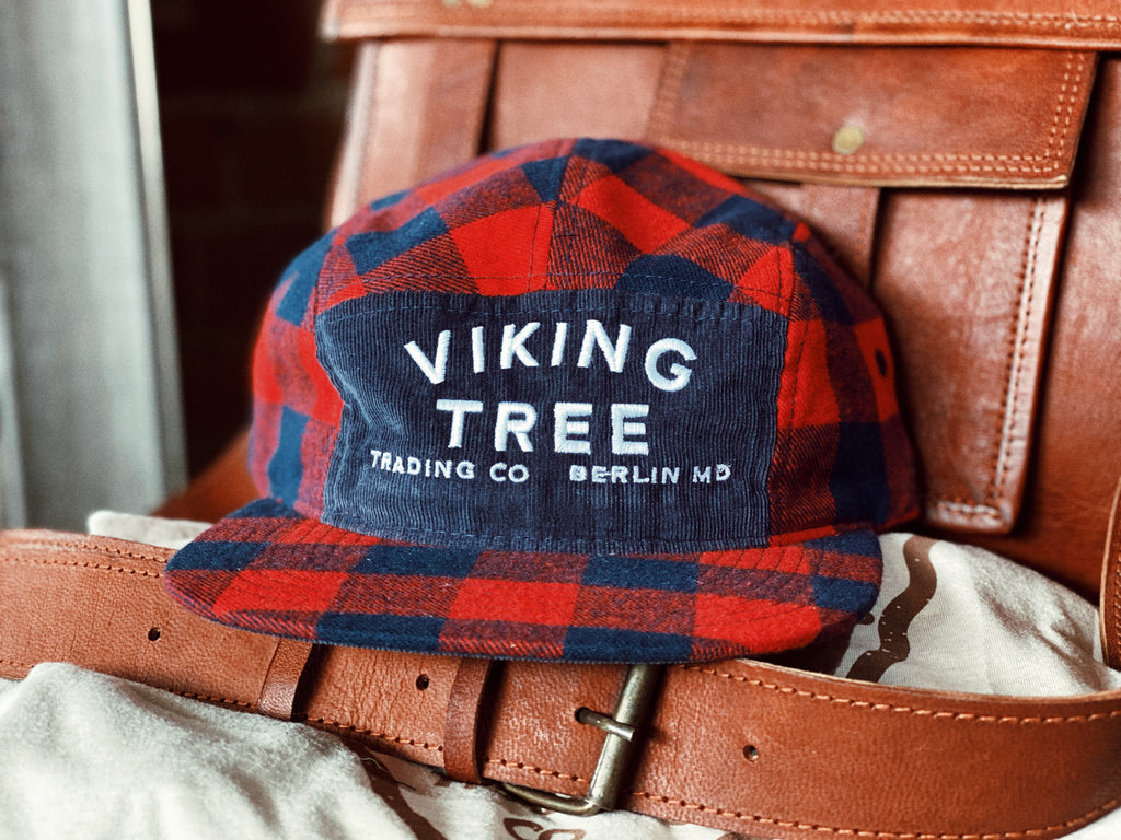 Viking Tree Plaid 5-Panel Hat
