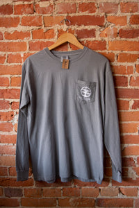 Viking Tree Pocket Logo Longsleeve - Slate