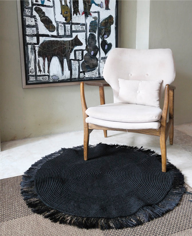Accent Rug, Angela Damman black | Crafthouse Store Kijkduin
