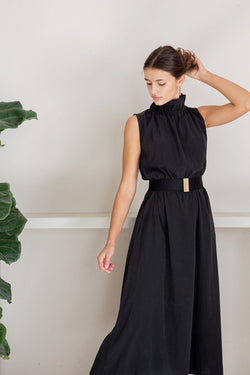 Artemisia silk dress, Once Milano black | Crafthouse