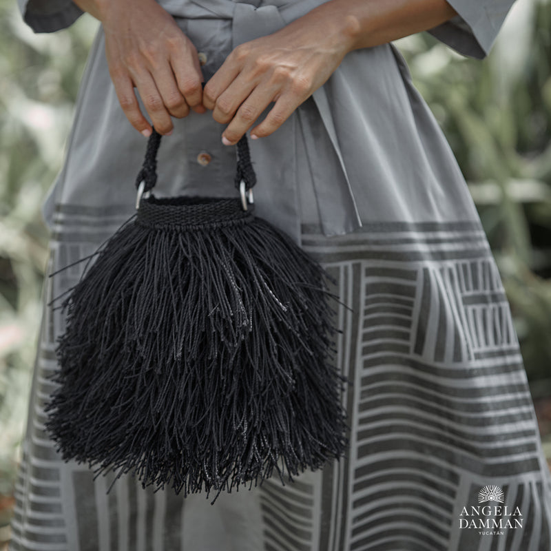 Bucket Bag Bruja, Angela Damman black | Crafthouse