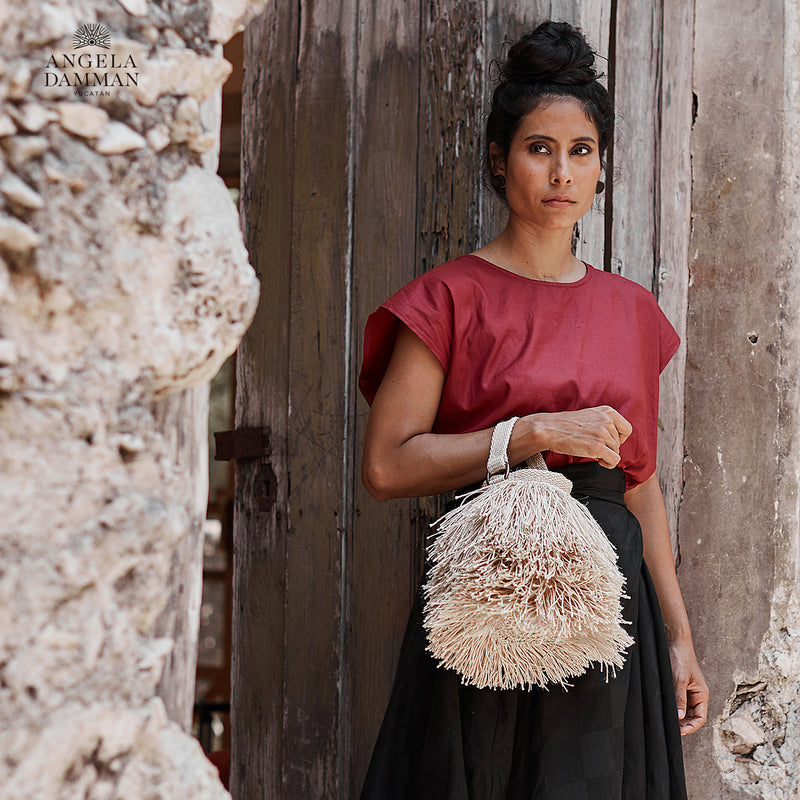 Bucket Bag Bruja, Angela Damman natural | Crafthouse