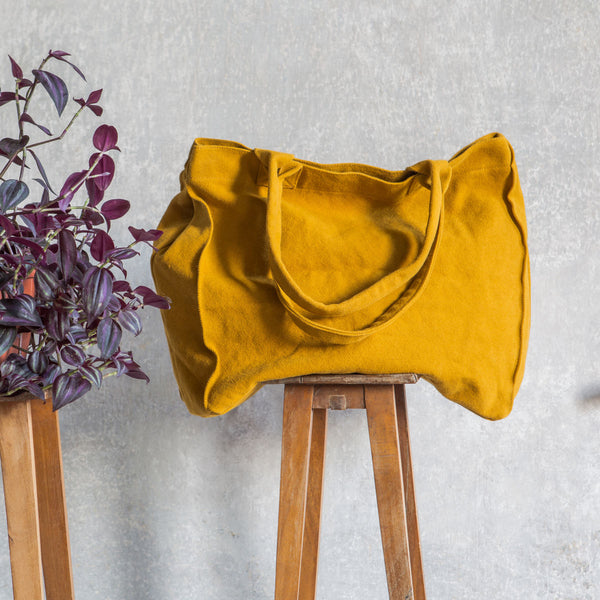 Frida Cotton Bag, Once Milano yellow | Crafthouse Store Kijkduin