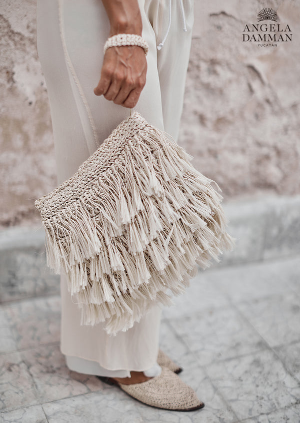 Fringe Bag Rio, Angela Damman natural | Crafthouse