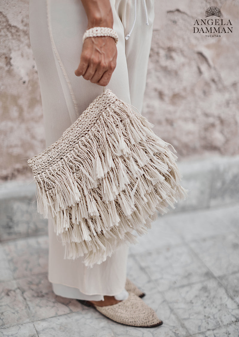 Rio Fringe Bag, Angela Damman natural | Crafthouse Store Kijkduin
