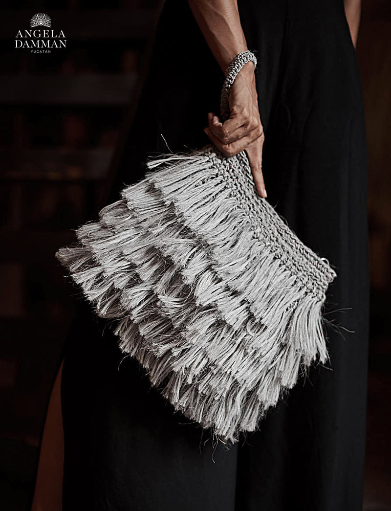 Fringe Bag Rio, Angela Damman taupe | Crafthouse