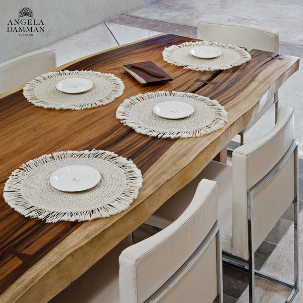 Fringe Placemat, Angela Damman natural | Crafthouse