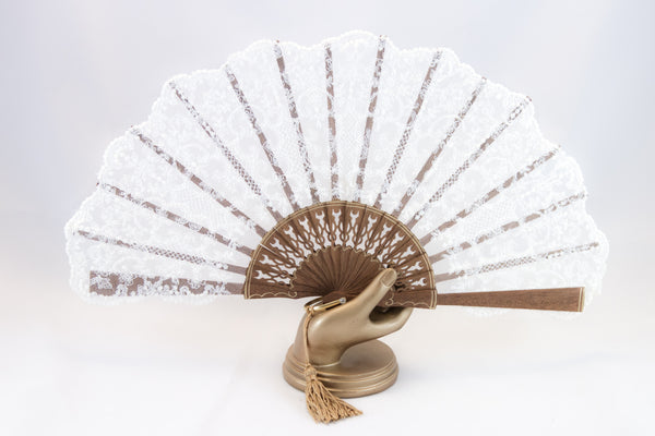 Hand Fan Bruges Cream, Rockcoco close-up | Crafthouse Store Kijkduin