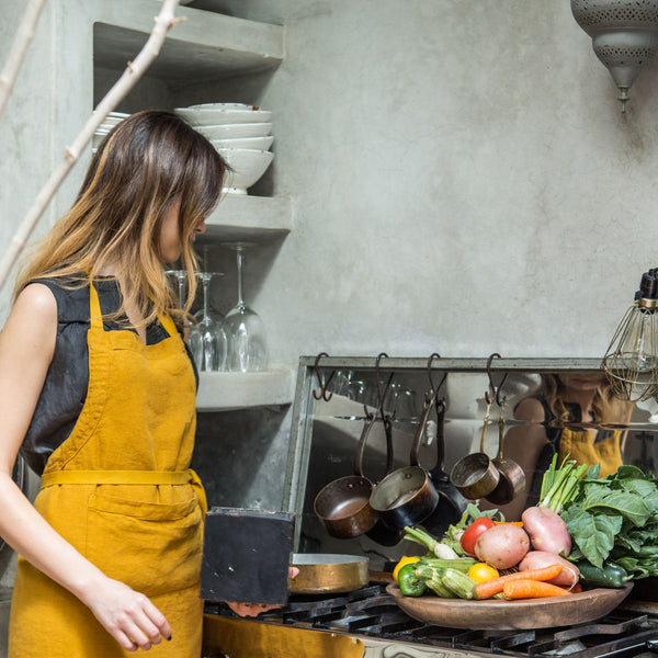 Linen Aprons, Once Milano yellow | Crafthouse Store Kijkduin