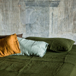 Linen Pillowcase, Once Milano mustard, sage & green | Crafthouse Store Kijkduin