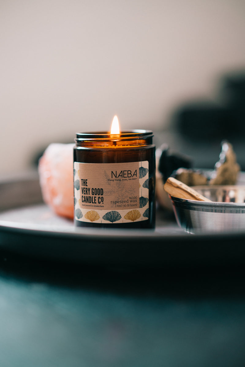 Scented Rapeseed Candle, The Very Good Candle Company Naeba mid-size displayed | Crafthouse