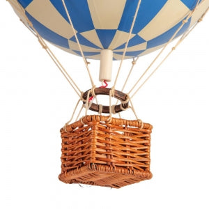 Travels Light Balloon Basket, Authentic Models check blue | Crafthouse Store Kijkduin