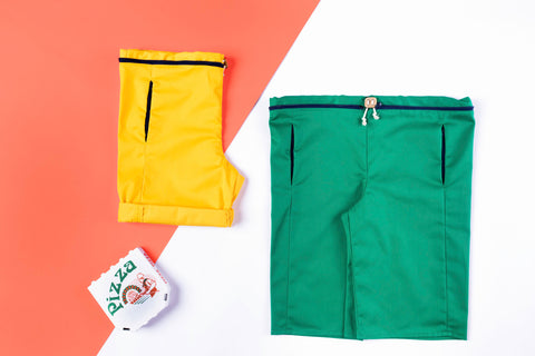 tricksters amusewear ethical ecofriendly fashion made in belgium colourful colours happy fun shorts