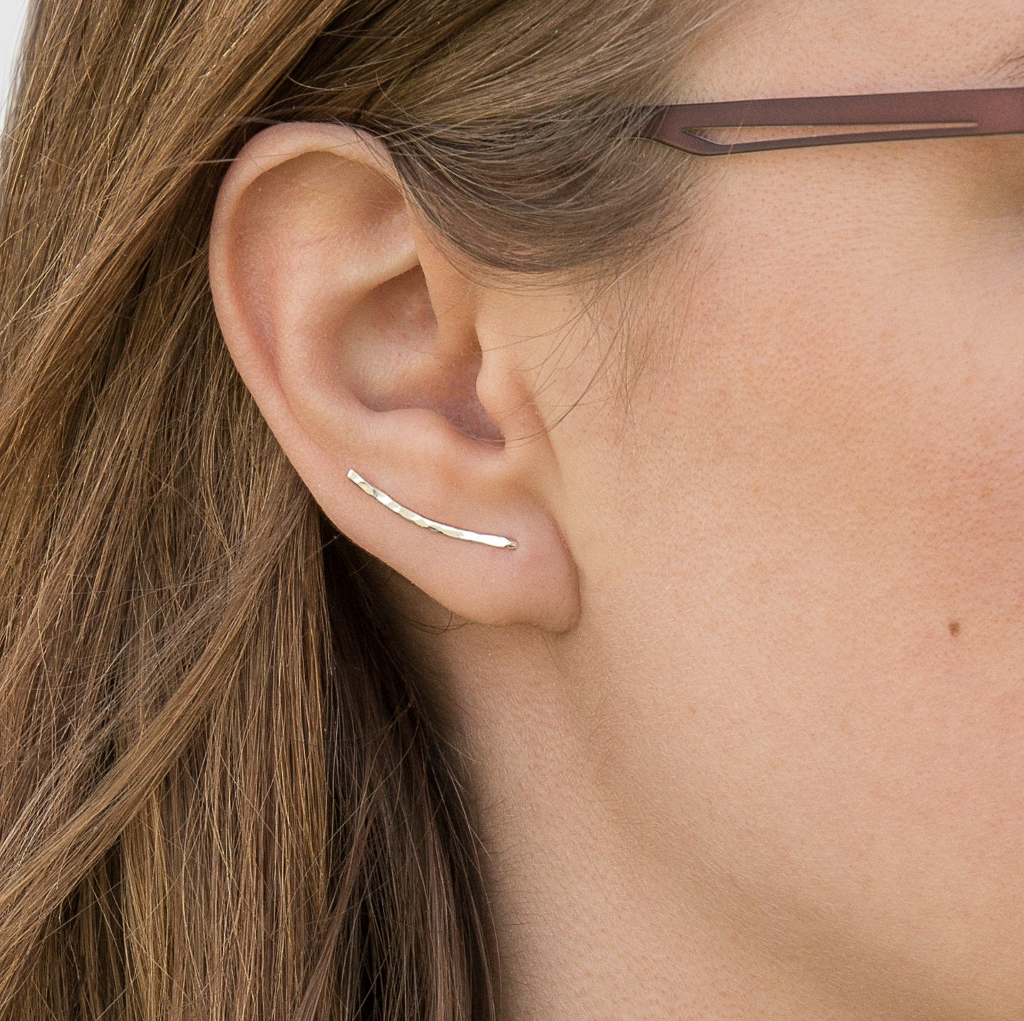 Sterling Silver Ear Climber, 100% Recycled - Ethical Brandz