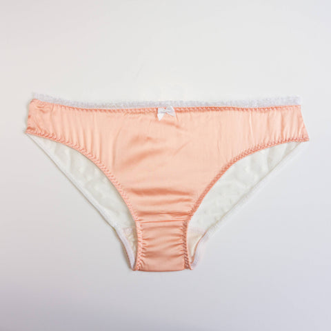 Silk and lace handmade briefs | Sakura | Sustainable lingerie - Ethical Brandz
