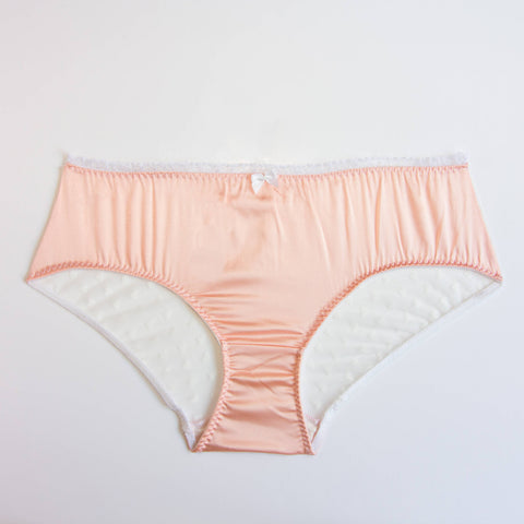Silk and lace handmade high waist briefs | Sakura | Sustainable lingerie - Ethical Brandz