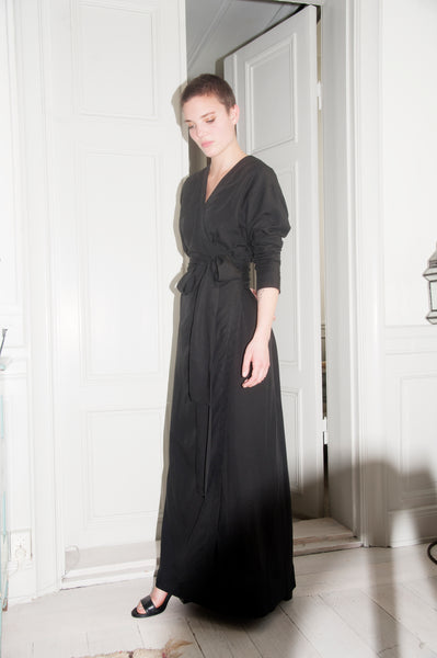 NORA Long wrap dress - Ethical Brandz